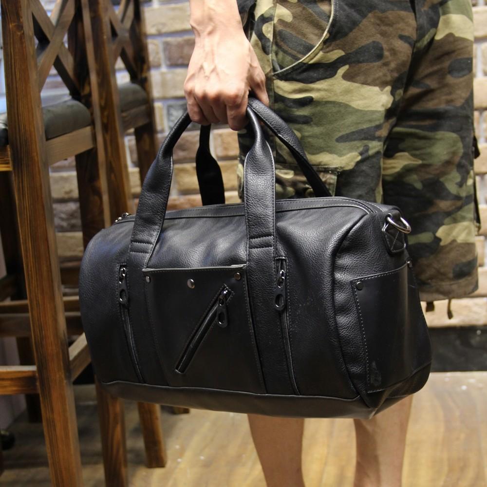 ♤ォㄉㄙ 商務橫款單肩短途旅行包男手提包 大容量行李袋旅游登機包