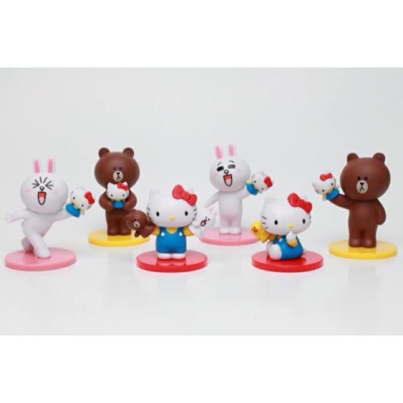 Hello Kitty X Line Friends X 公仔