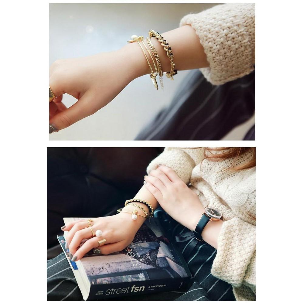 款正韓手鍊 百搭金屬鏈條簡潔圈氣質多層手鏈手鐲 手鍊 首飾