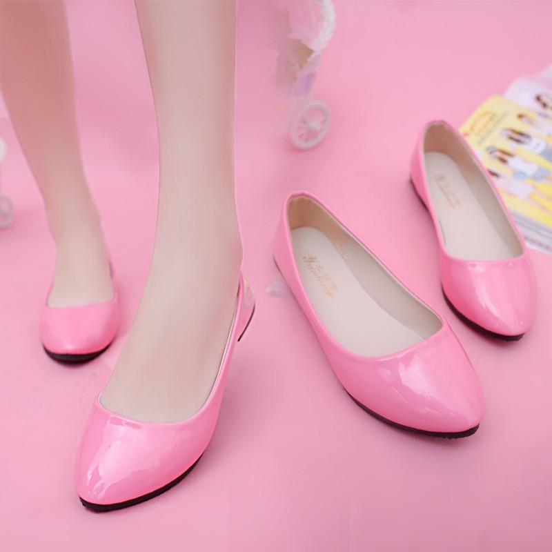 夏 休閒孕婦平底鞋平跟淺口單鞋套百搭皮鞋豆豆鞋工作女鞋高跟鞋單鞋豆豆鞋涼鞋懶人鞋