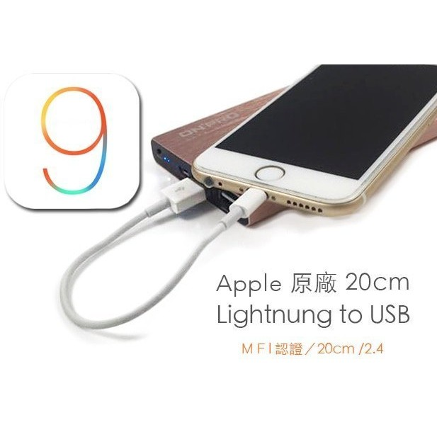 Apple Lightning 20cm 數據短線iPhone7 i7Plus i6s P
