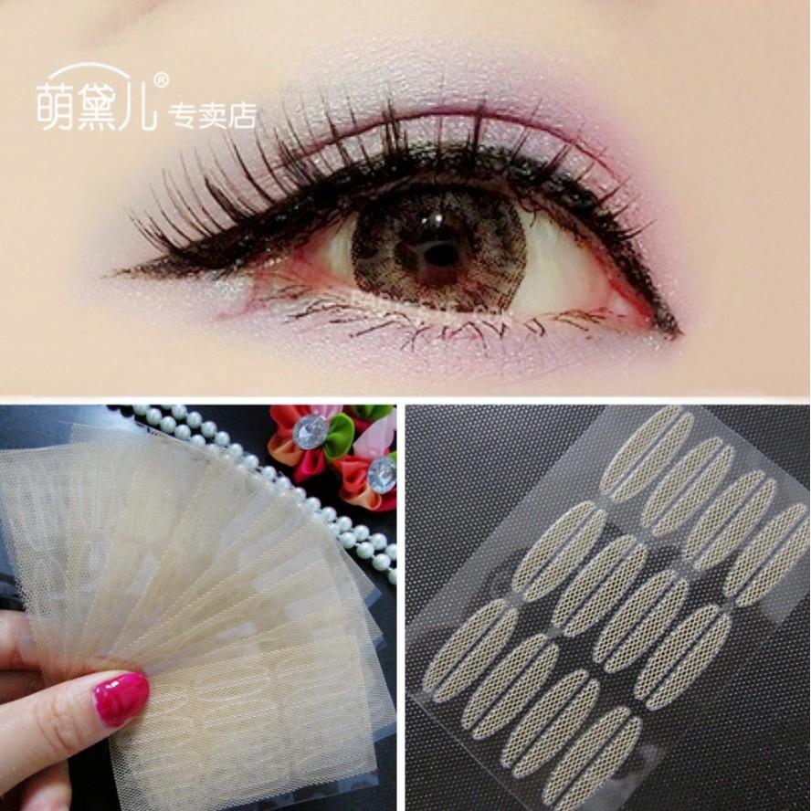 元氣少女美搭7 蕾絲網狀雙眼皮貼隱形圓頭版內雙單眼皮自然膚色窄款240 貼