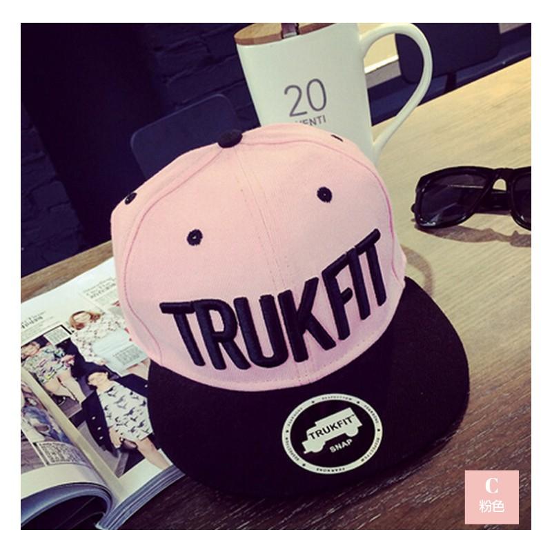 ✨新品全 粉色刺繡字母TRUKFIT 街頭嘻哈帽滑板帽棒球帽鴨舌帽情侶帽街舞帽