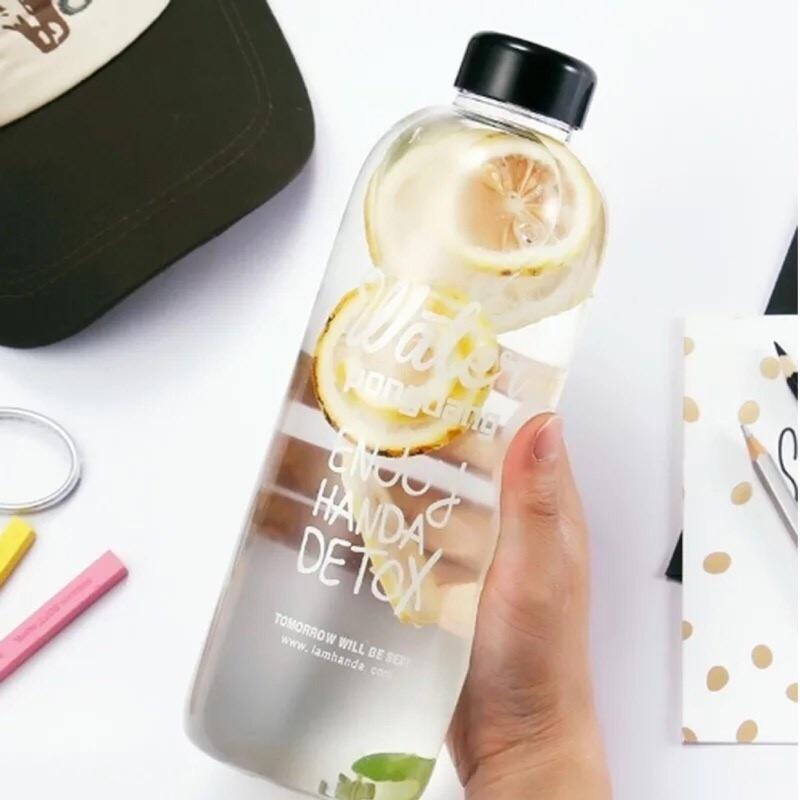 ~ ~Pongdang Water 韓國大容量玻璃水瓶附布袋杯刷1000ml 、600ml