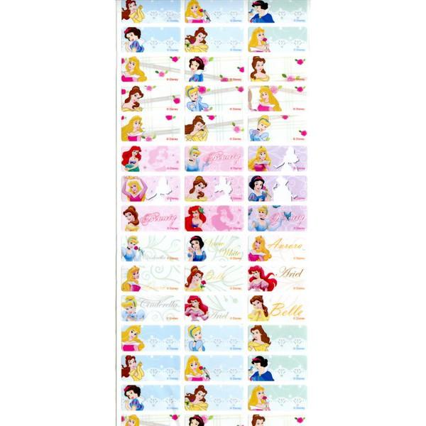 正品迪士尼 公主中防水姓名貼尺寸3x1 3cm
