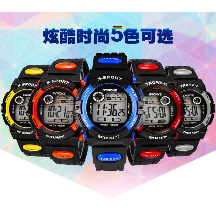 ~Quest shop ~T3847 爆款小學生led 電子錶男學生 防水夜光兒童鬧鐘計時