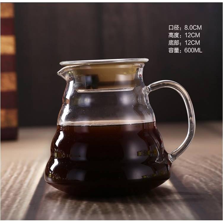 雲朵咖啡壺600ml 手沖咖啡分享壺耐熱玻璃壺泡茶壺1 4 人份咖啡壺媲美HARIO 手沖