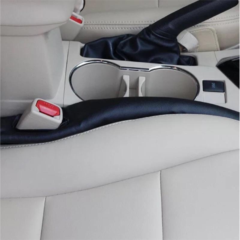 四輪族必買!汽車座椅縫隙塞條防漏塞條車用內飾裝飾汽車用品坐椅塞縫條卡縫一組2 支