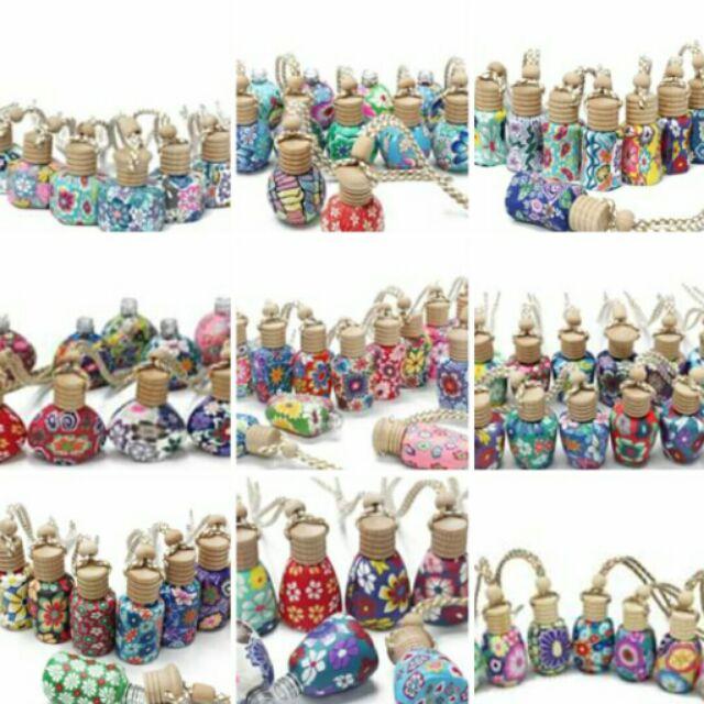 軟陶彩繪精油瓶30 個空瓶混款 發請先洽詢庫存狀況彩陶瓶香水瓶香水罐汽車吊飾掛飾項鍊 零售