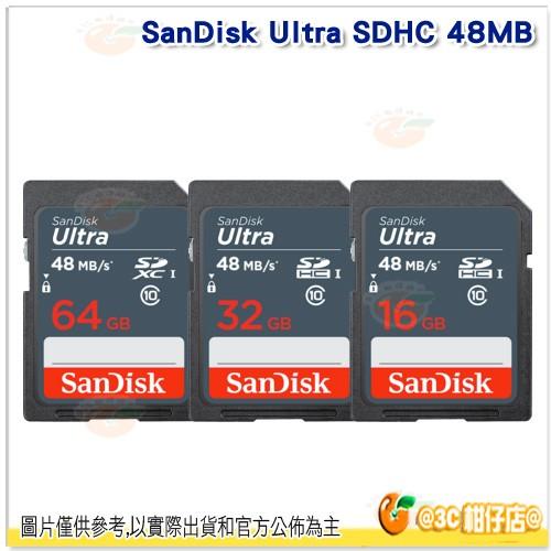SanDisk Ultra SDHC 32GB 16GB UHS I 記憶卡48MB s