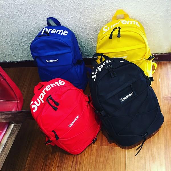 4 色大容量Supreme 後背包潮流潮牌筆電包電腦包雙肩包防水登山登山包戶外 單車露營
