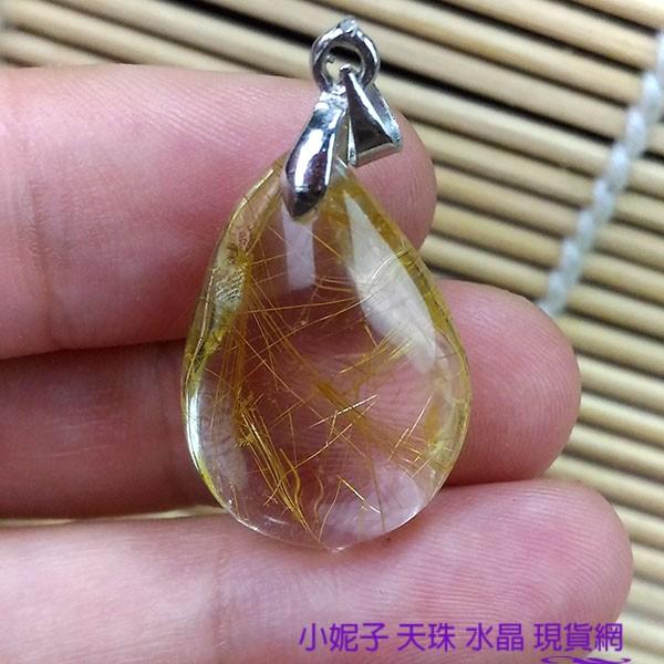 小妮子98023 現品 權貴的象徵,可旺事業,化是非小人天然鈦晶金髮晶水晶項鍊贈檀香油