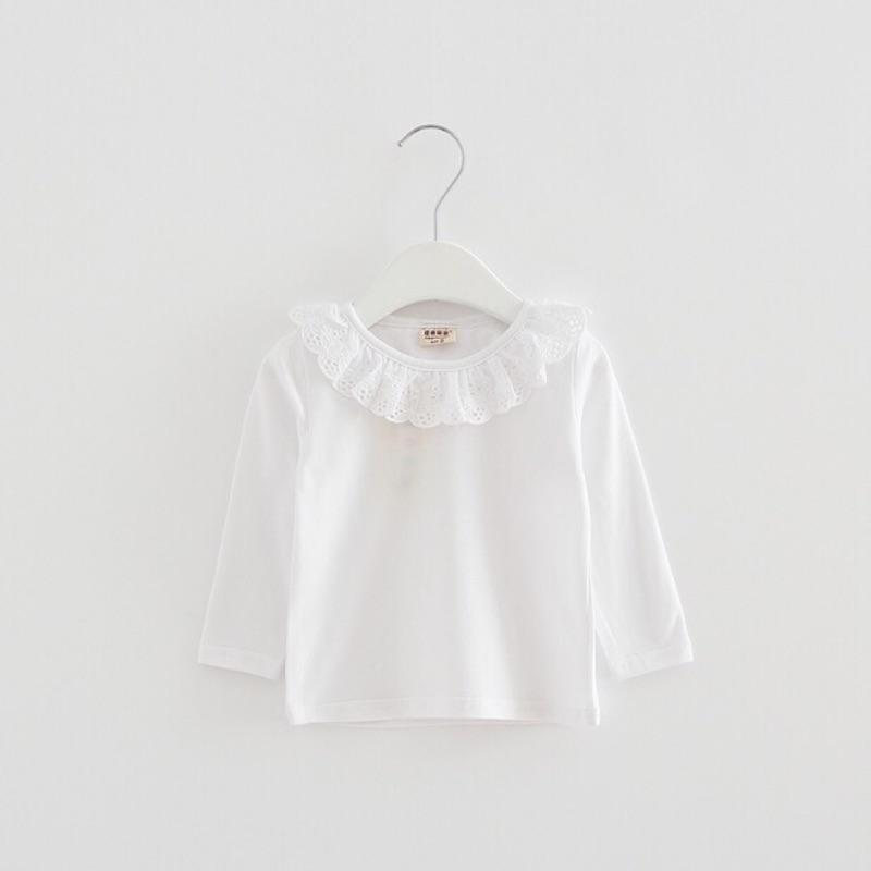 2016  0 3 歲 嬰幼兒女童超百搭花邊純棉長袖上衣新生兒寶寶內搭舒適上衣~27 惡妻