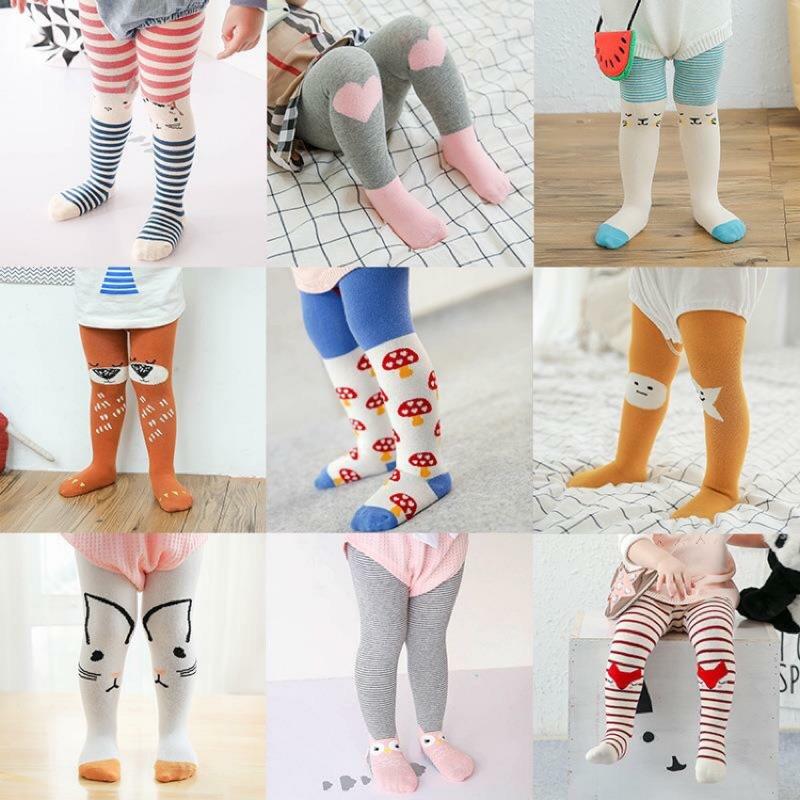 最多款式!純棉褲襪防滑底兒童嬰幼兒女童女寶卡通兔子貓咪條紋貓頭鷹愛心蘑菇星星男童