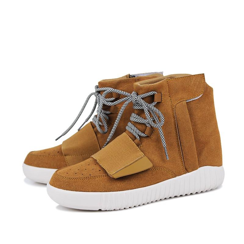 男士高幫 侃爺3 代椰子潮鞋,棕色, ,大學t ,百搭,鞋t 英倫風,加大碼