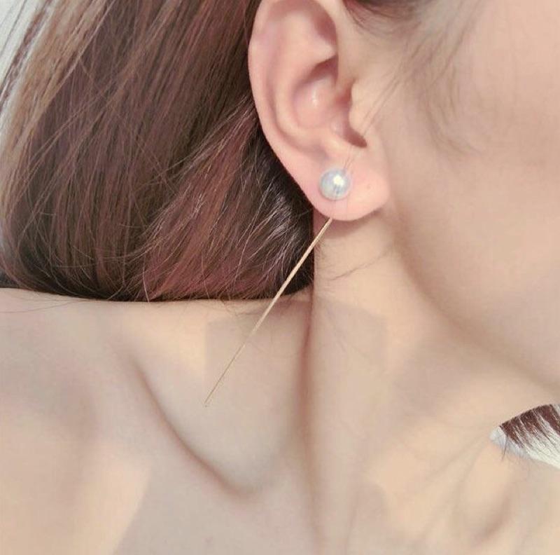 氣質珍珠垂墜耳環共兩色