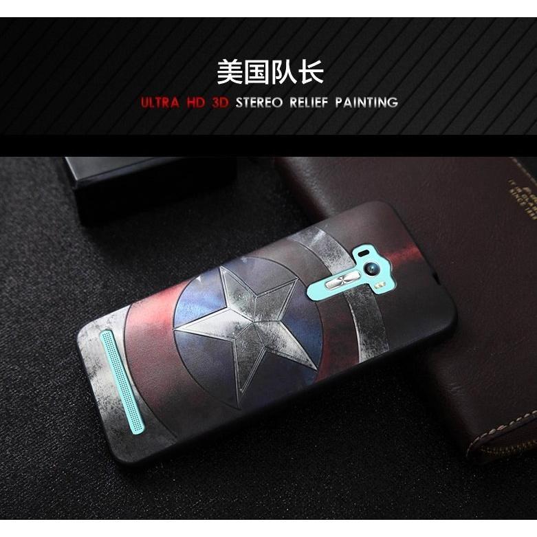 華碩Asus Zenfone Laser 手機殼ZE550KL 5 5 吋美國隊長高清3D