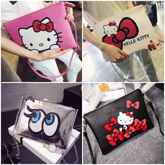 印花卡通kitty 貓Hello Kitty playnomore 單肩包手拿包信封包四款