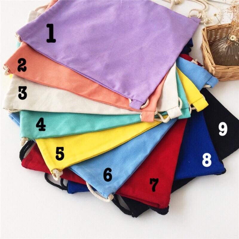 ►現◄12 安纯帆布✤DIY 包包✤帆布後背包學生包,束口袋抽繩熱轉印手繪 可自行享受創作
