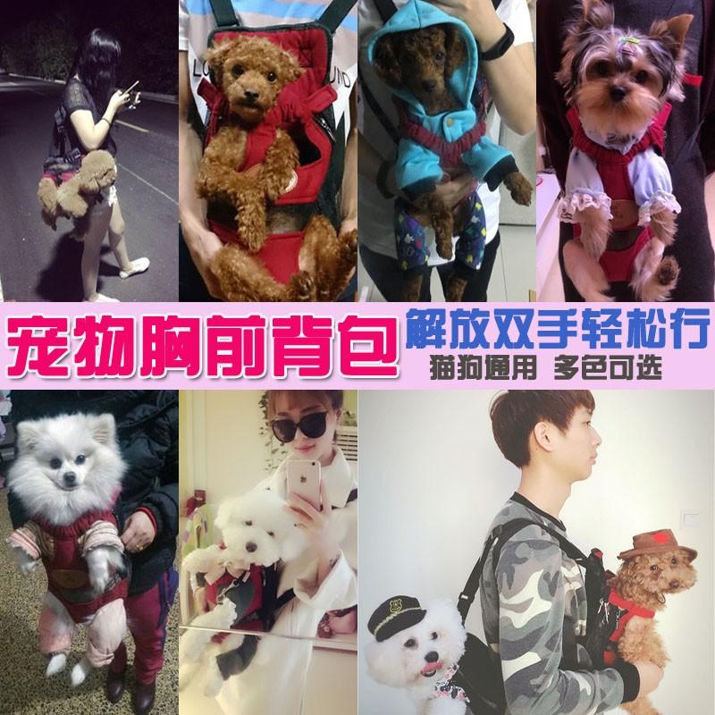寵物狗背包雙肩貓胸前背包外出攜帶四腳包旅行便攜包泰迪袋子