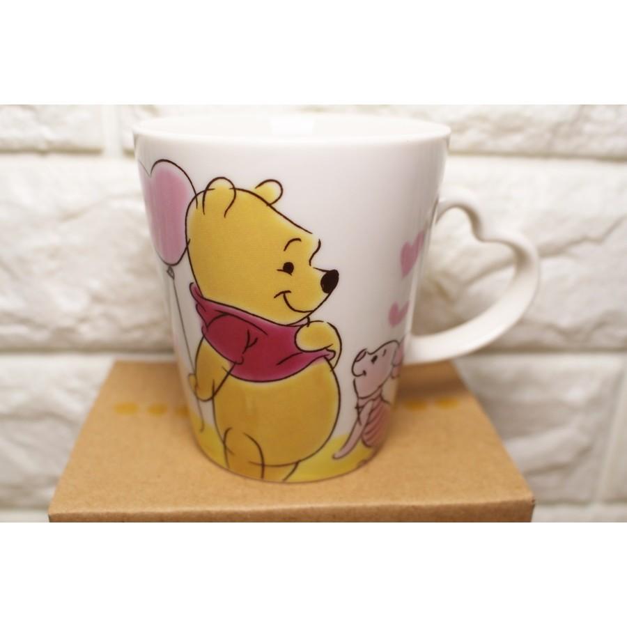 日貨小熊維尼愛心手把馬克杯咖啡杯牛奶杯杯子水杯茶杯泡茶杯迪士尼杯子馬克杯開水杯子喝水杯