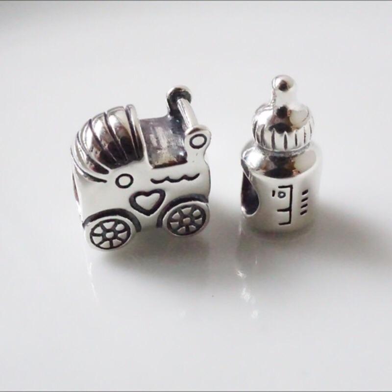 寵拉拉嬰兒車奶瓶串珠925 純銀DIY 可串潘朵拉PANDORA Soufeel Glam