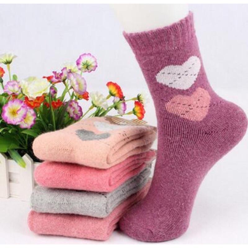 CR010 加厚保暖襪子女士毛圈襪子大愛心毛襪毛圈襪