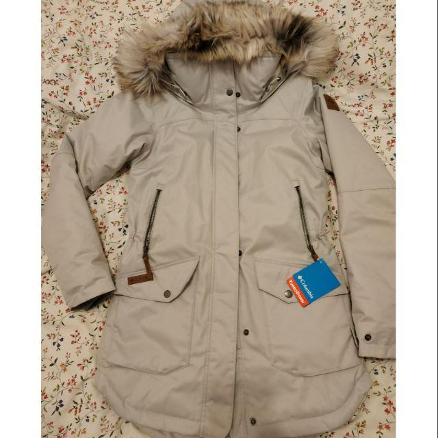Columbia女款防風防水羽絨保暖外套 百貨公司購入因尺寸稍小從未穿過