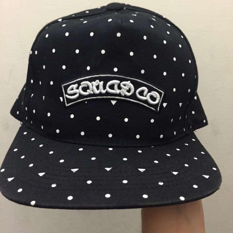 SQUAD 潮流品牌點點街頭 百搭潮男黑色 款網帽棒球帽鴨舌帽Less remix sta