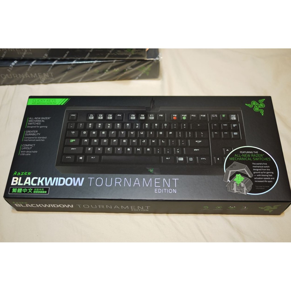 雷蛇黑寡婦競技競技版綠軸中文Razer BLACKWIDOW TE 機械式鍵盤非Ducky