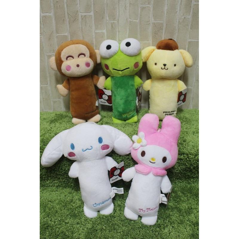 三麗鷗全身小娃娃玩偶美樂蒂大眼蛙淘氣猴布丁狗大眼蛙填充娃娃布偶玩偶玩具25CM 娃娃