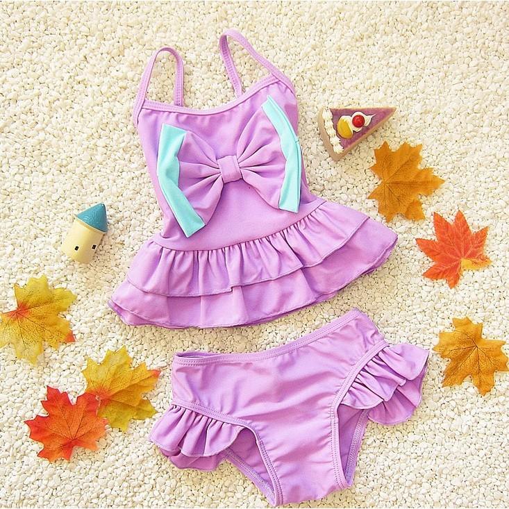 女童女寶寶小童兒童泳裝泳衣泳褲比基尼溫泉泡湯沙灘可愛游泳衣大蝴蝶結