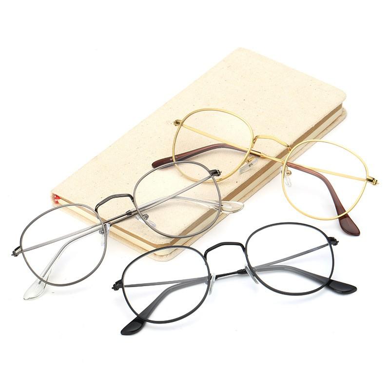 ~ ~ 文藝金絲邊眼鏡金屬復古眼鏡框細框眼鏡架平光眼鏡