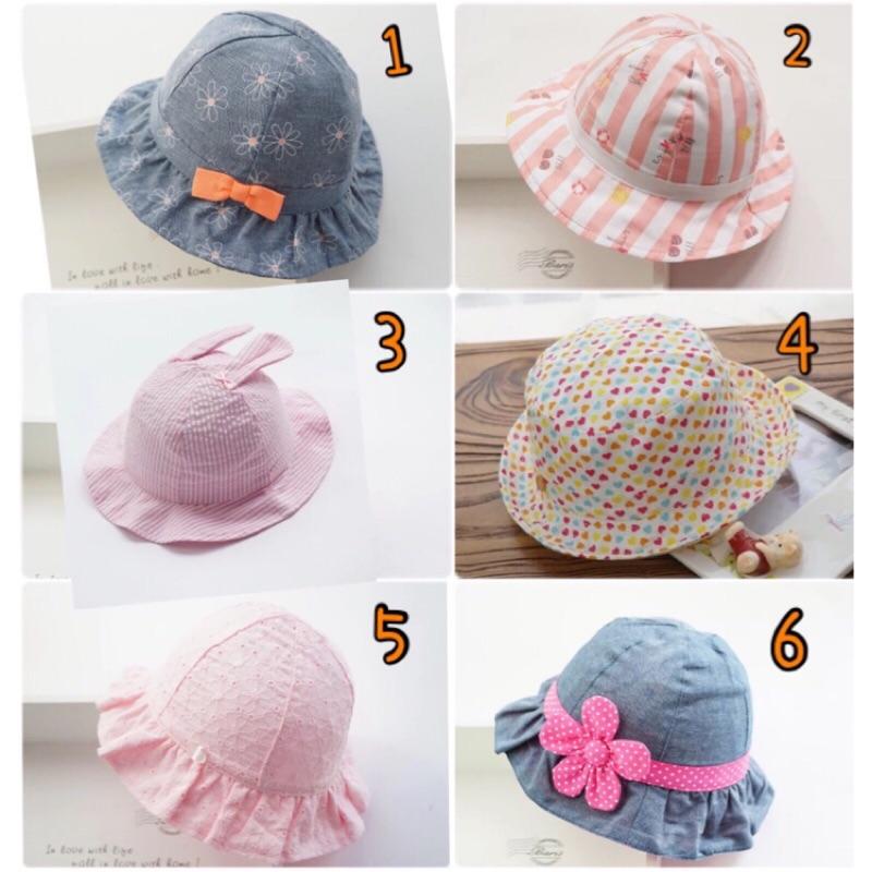 ✈️ Kids 女童10 款粉紅系Hello kitty 草莓兔兔 太陽帽遮陽帽漁夫帽柔軟