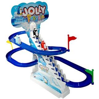 聲光音樂軌道車企鵝滑行跳躍天堂 只要199 元企鵝溜滑梯軌道車電動溜滑梯滑梯樂園兒童玩具
