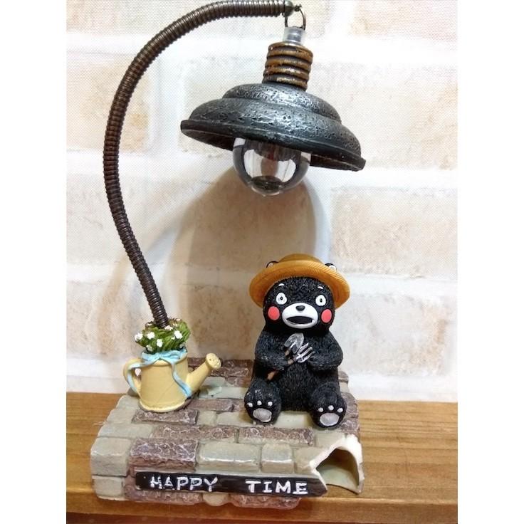 熊本熊LED 小夜燈看書燈可愛小燈公仔玩具人偶 小擺飾邊角破損!!
