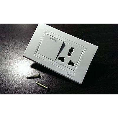 多 電源插座面板電燈開關牆壁開關單孔插座萬國電源插頭,電源開關