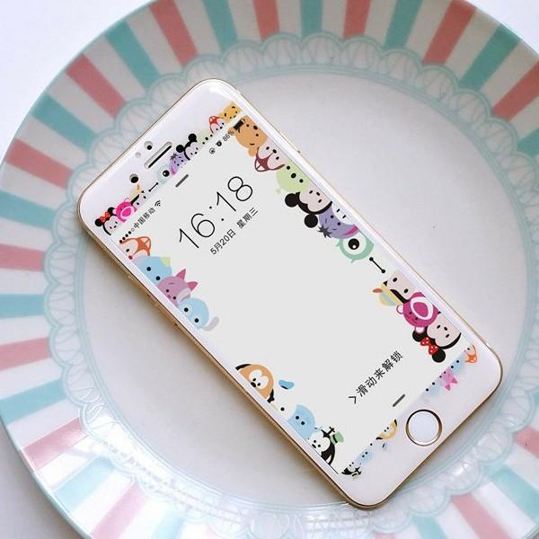 iphone 6 6s 、iphone7 鋼化玻璃貼迪士尼米奇、米妮等人物環繞系列