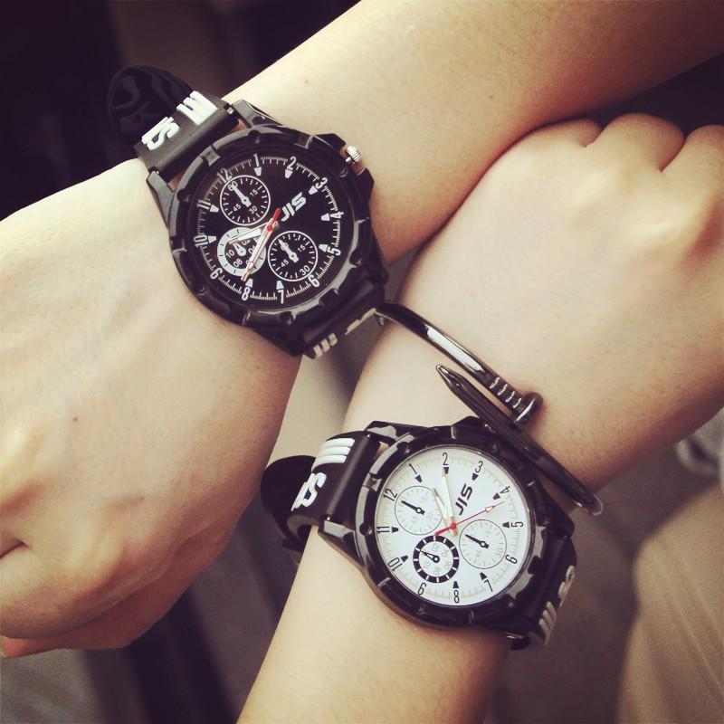 韓國大表盤原宿復古風 簡約女潮流 皮帶潮男中學生情侶手表