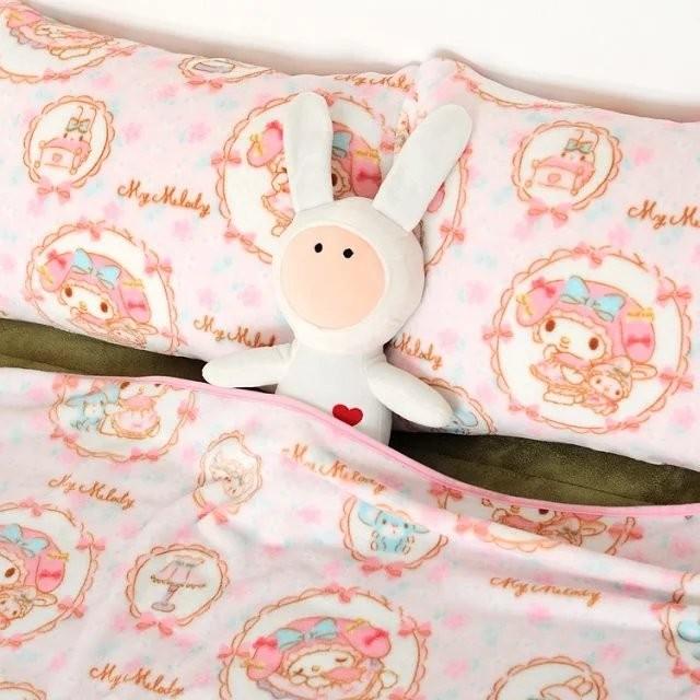 ~莓莓小舖~美樂蒂 空調毯珊瑚絨毯子法蘭絨毯單人雙人蓋毯