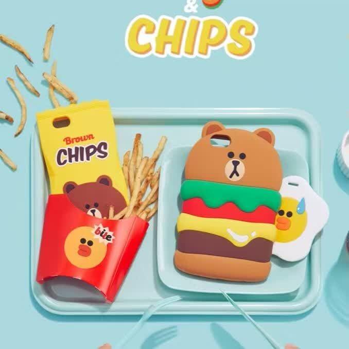 韓國FUNNY 漢堡熊大矽膠軟殼蘋果iPhone 6 s 6plus