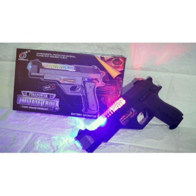 安全電動聲光手槍無子彈玩具玩具手槍電動手槍卡兵槍