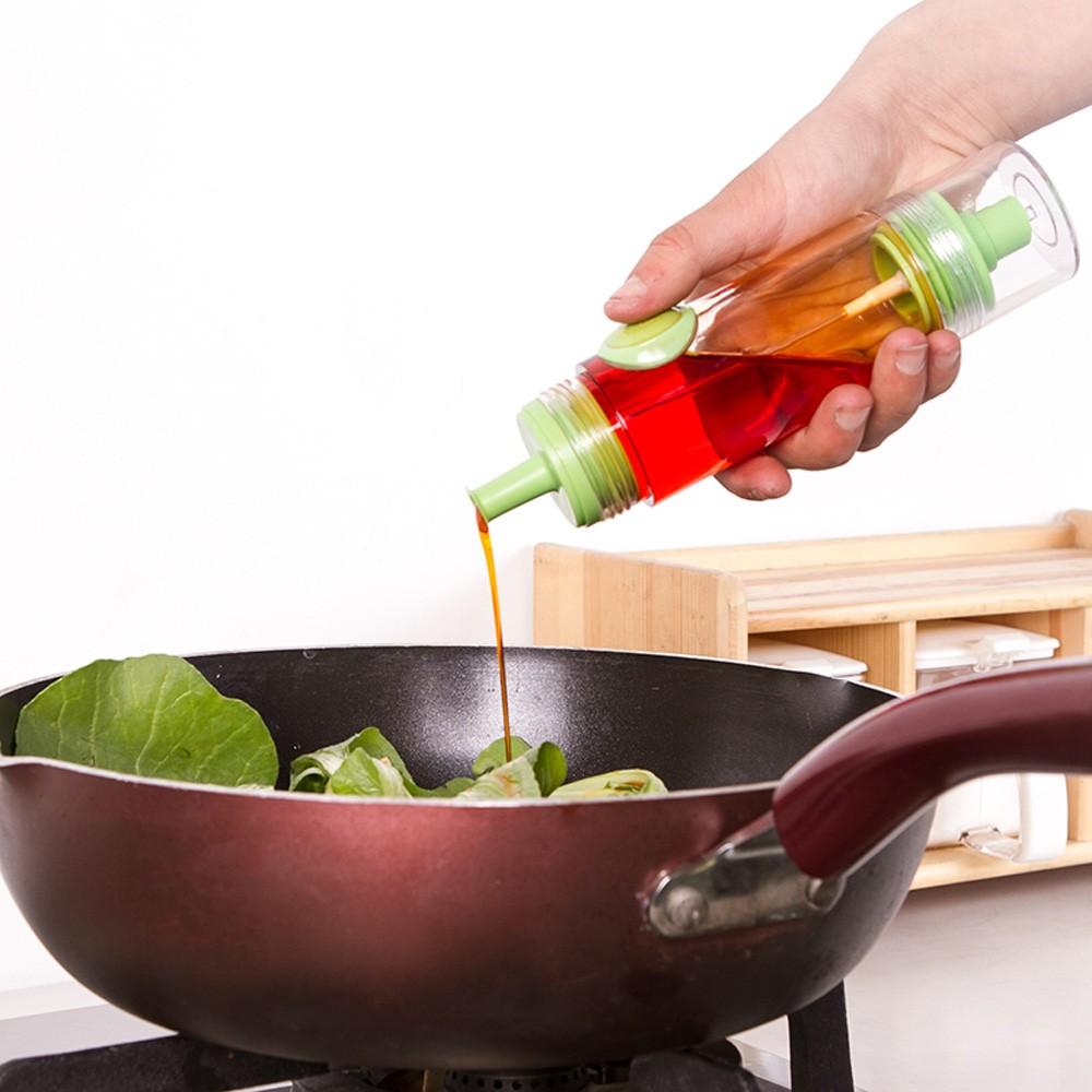 按壓式雙頭醬油調味料噴瓶控油瓶綠色紅色