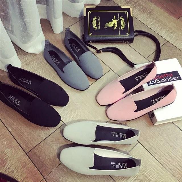平底單鞋女豆豆鞋春夏 方頭舒適平跟鞋子黑色單鞋女平底鞋松糕鞋帆布鞋網球鞋內增高鞋旅遊鞋跑步