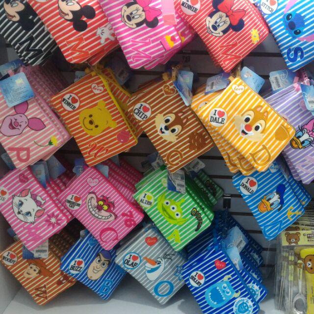 迪士尼雙拉鍊萬用包筆袋化妝包手機袋錢包雙層袋收納袋