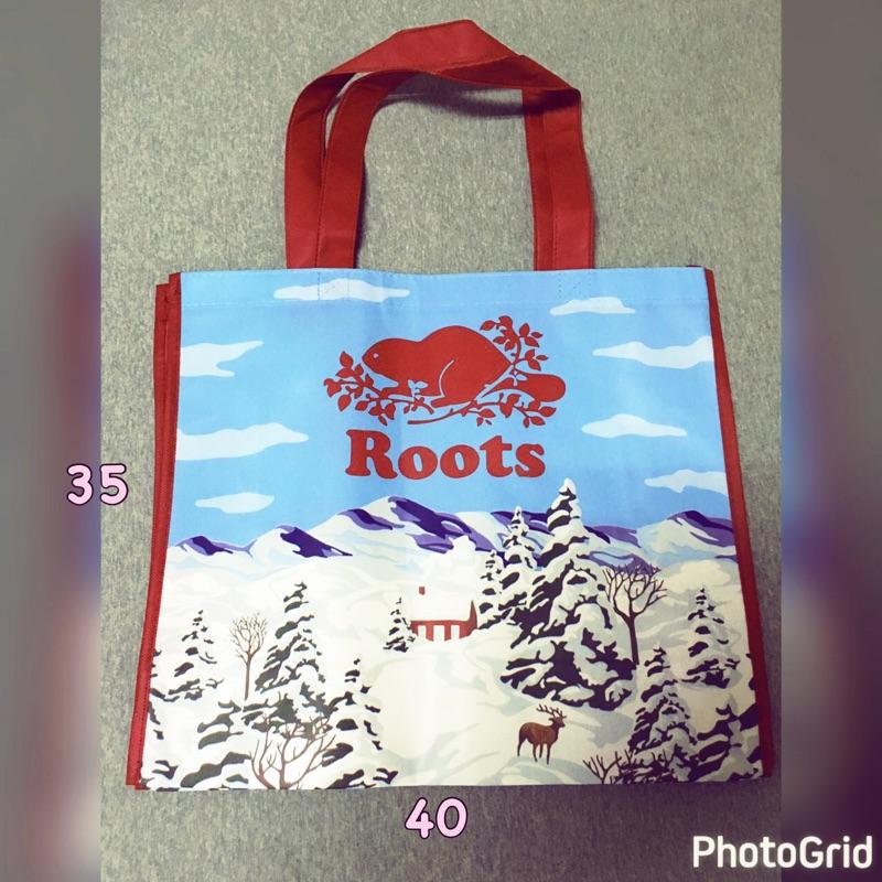 Roots 品牌43 週年 袋專櫃 roots 加拿大小木屋風景圖防水袋