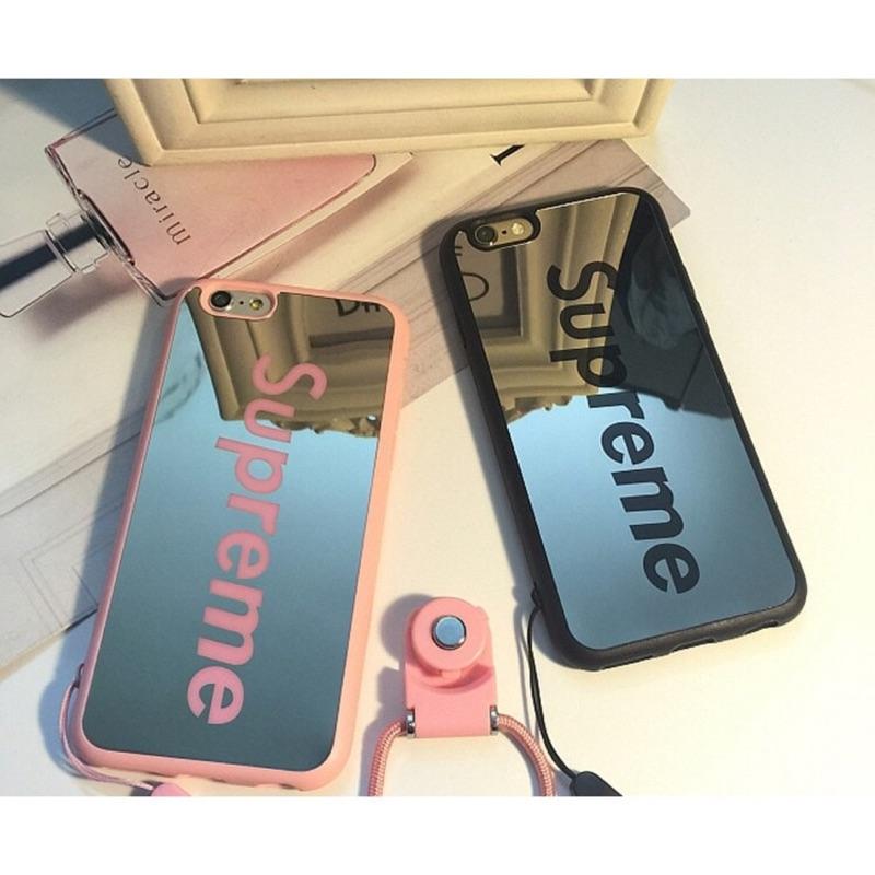 I7 I7P 、I6 I6P 、I5 5S 翻玩潮流SUPREME 鏡面手機殼、鏡面殼,T