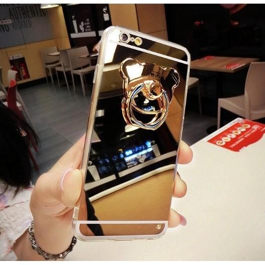 ~滋賀 網~~IPHONE 系列鏡面指環手機殼~小熊指環手機殼可當鏡子