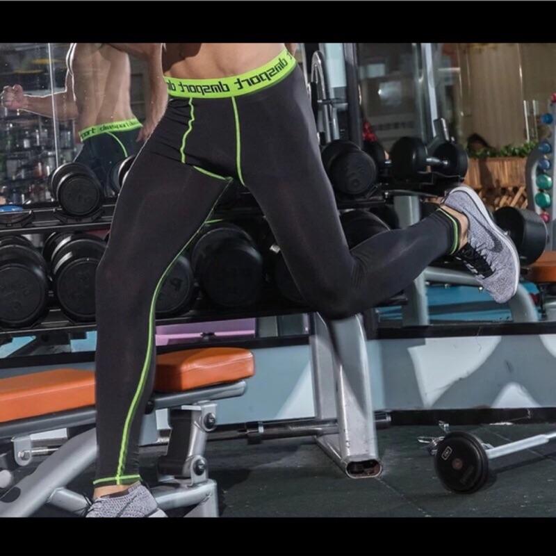 男壓力褲籃球緊身褲Pro 籃球緊身褲健身褲壓力褲 adidas nike 加大 健腹機