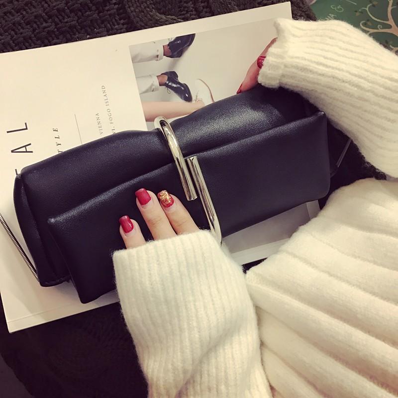 韓國VIVI 雜誌首推kev121 手拿包小包手抓包宴會包 百搭單肩斜挎小包鏈條包包